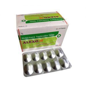 Montelukast 10 Mg + Fexofenadine Hydrochloride 120 Mg