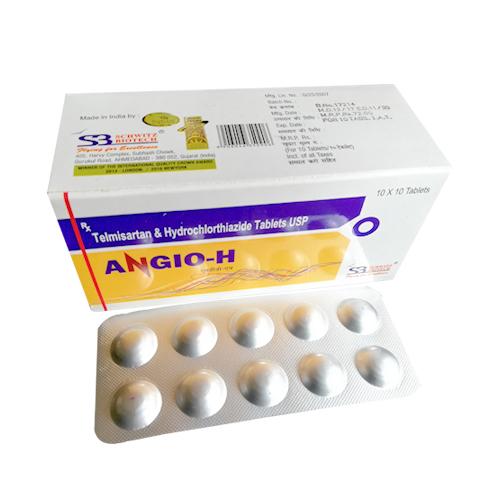 Telmisartan 40mg + Hydrochlorothiazide 12.5 Mg Tablets