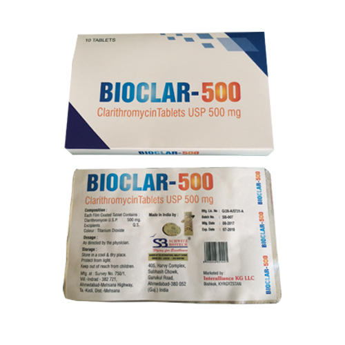 Clarithromycin Tablets Usp 500 Mg