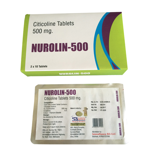 Citicoline Tablet 500 Mg