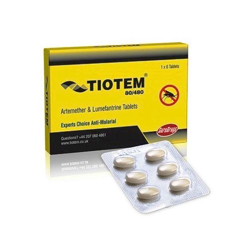 Artemether 80mg Lumefantrine 480 Mg Tablets